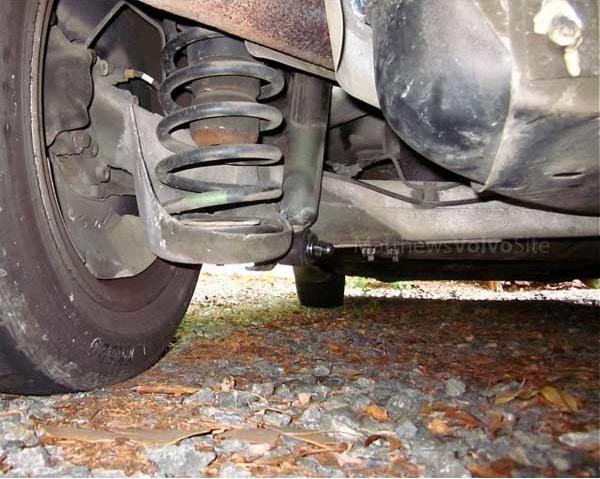 Replacing 850 wagon rear shocks DIY tutorial
