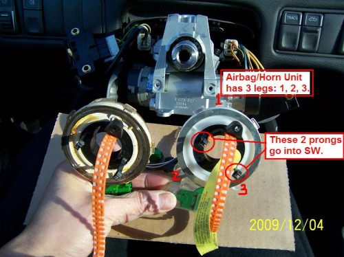 DIY: 1998 Volvo V70 Springclock (Airbag/Horn Contact Unit ...