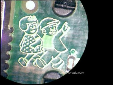 Volvo Circuit Board with Nancy and Sluggo