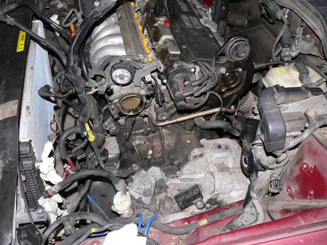 1995 volvo 850 auto engine and transmission removal image