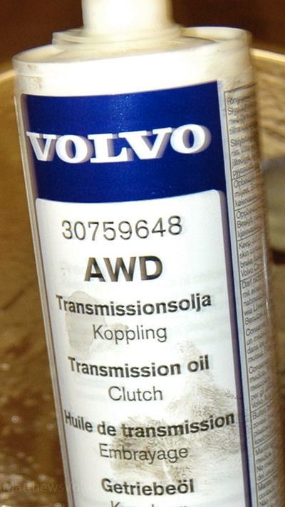 Haldex Volvo Fluid on 2001 volvo s60