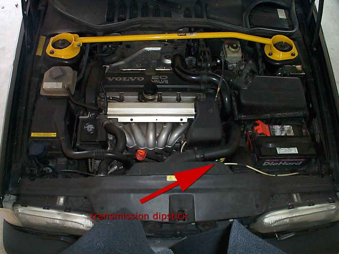 volvo repairs fixes transmission dipstick location no