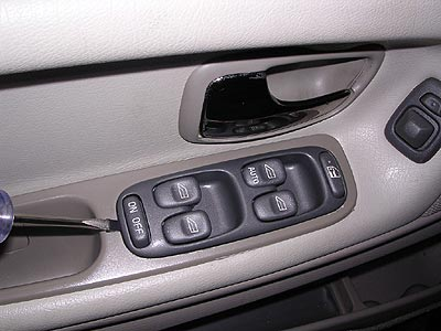 Replace Volvo window switches removal