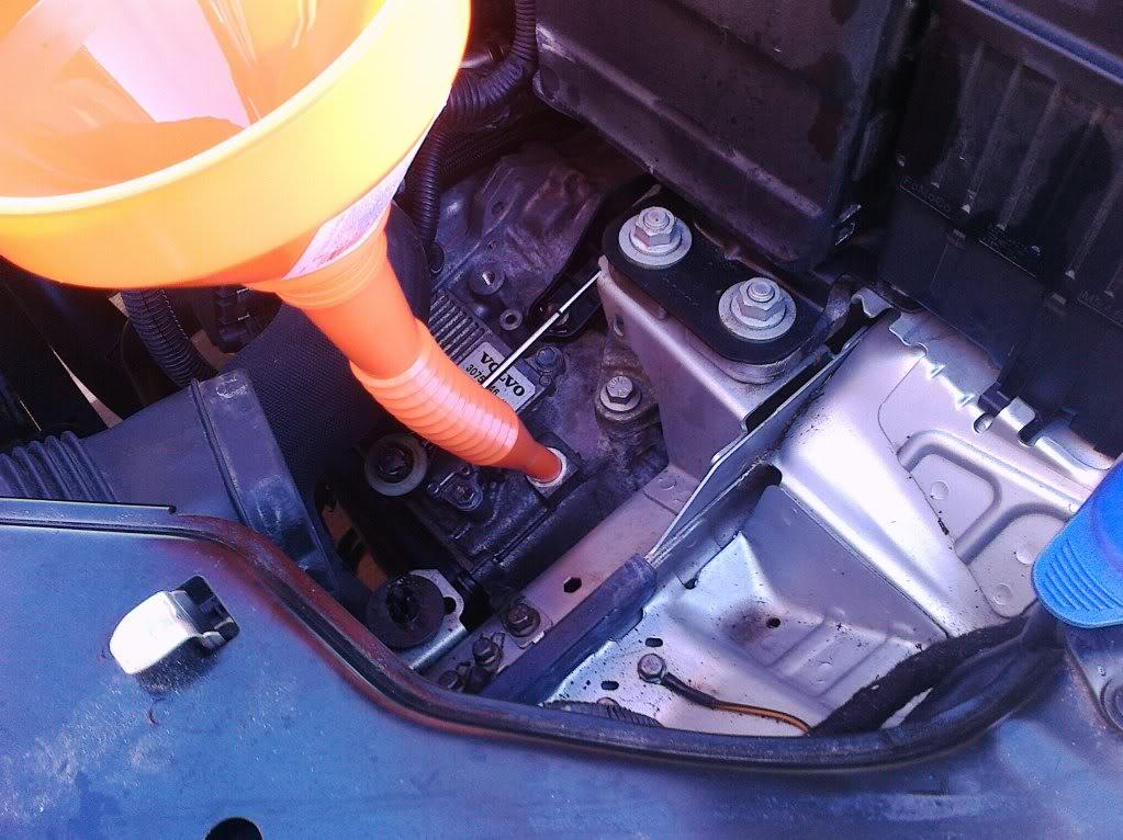 change s80 transmission fluid