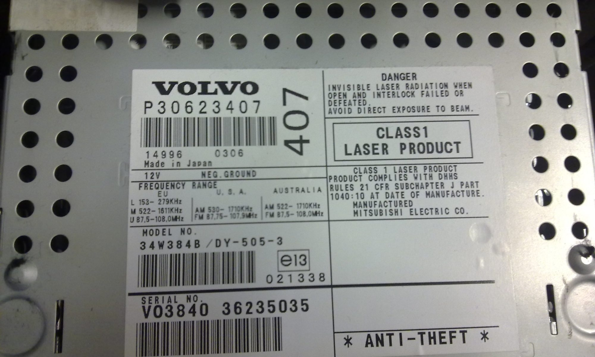 Find Volvo Model Year From VIN - MVS