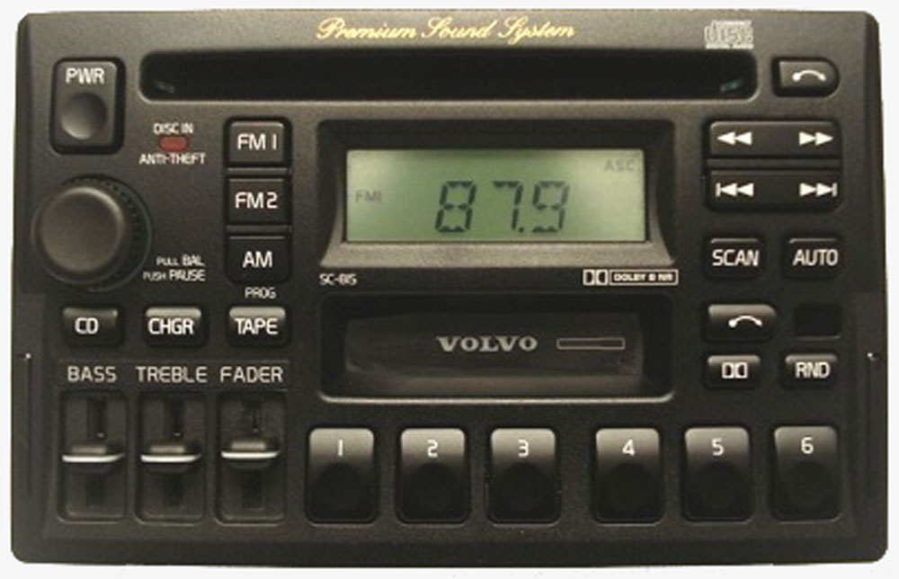 volvo cd player