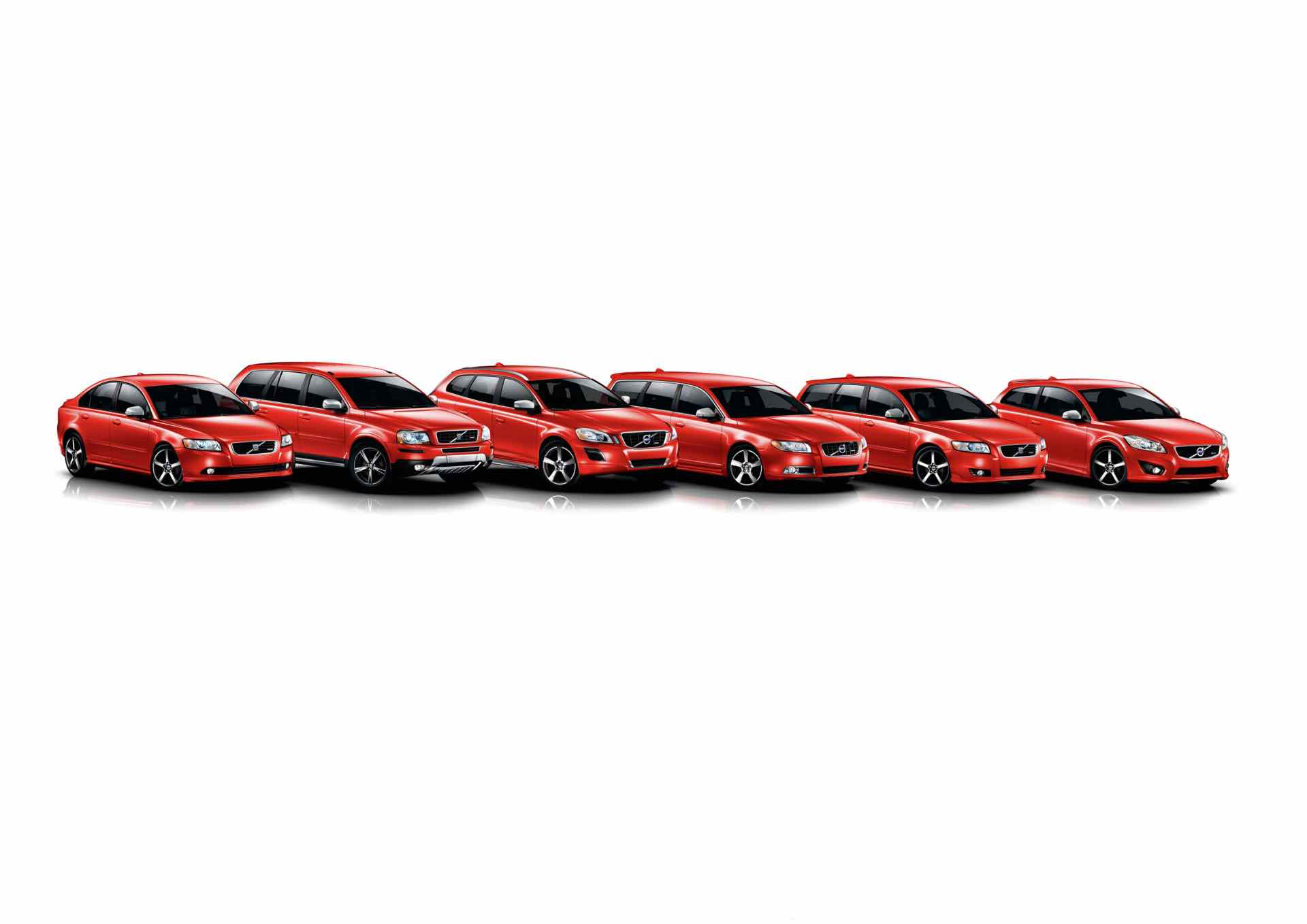 Volvo's Range Of R Design Cars And Suvs, In Red -  2013, R-Design, red