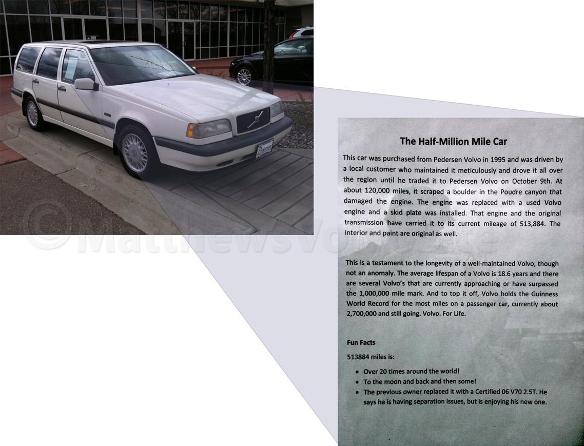 513,000 mile Volvo 850