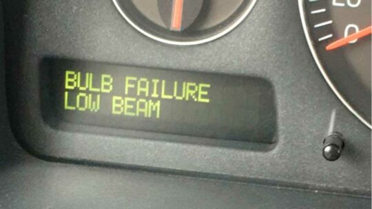 Bulb Failure Low Beam - dash message center