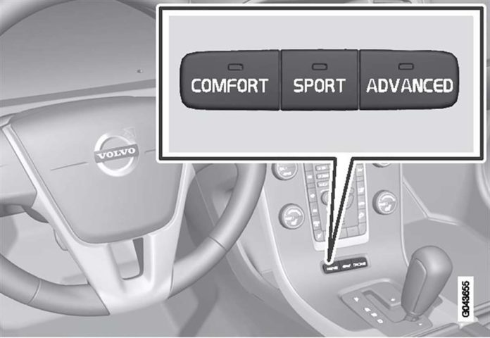 Four C In V70 R - notice it has three settings, Comfort, Sport and Advanced