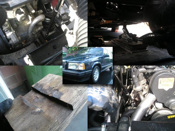 Volvo 940 engine mount replacement tutorial
