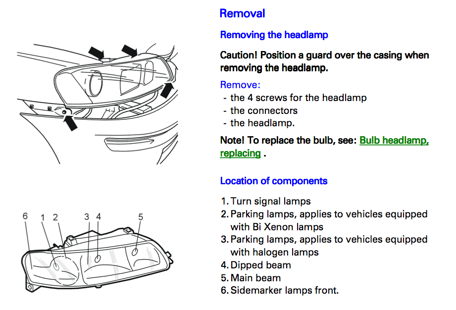 Replace Low Beam On 2009 Volvo S60 on light bulb replacement volvo xc90