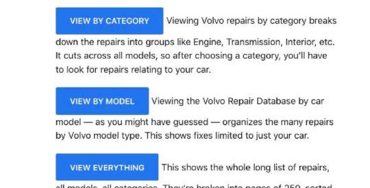Volvo Repair Database