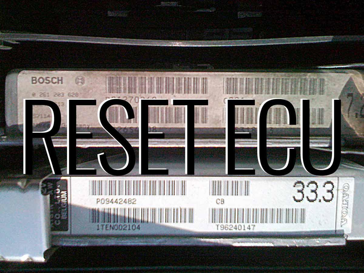 850 Ecu Reset