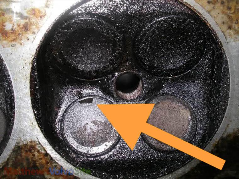 Burnt valve