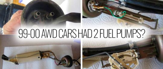The 99-00 AWD cars had 2 fuel pumps