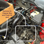 replace coolant hoses air cleaner gone 150x150 - 98 V70 T5 Replacing the Coolant Hoses in Pics