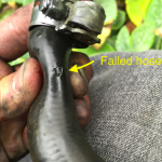 replace coolant hoses failedhose 150x150 - 98 V70 T5 Replacing the Coolant Hoses in Pics