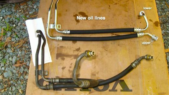 Volvo Oil Cooler Lines -