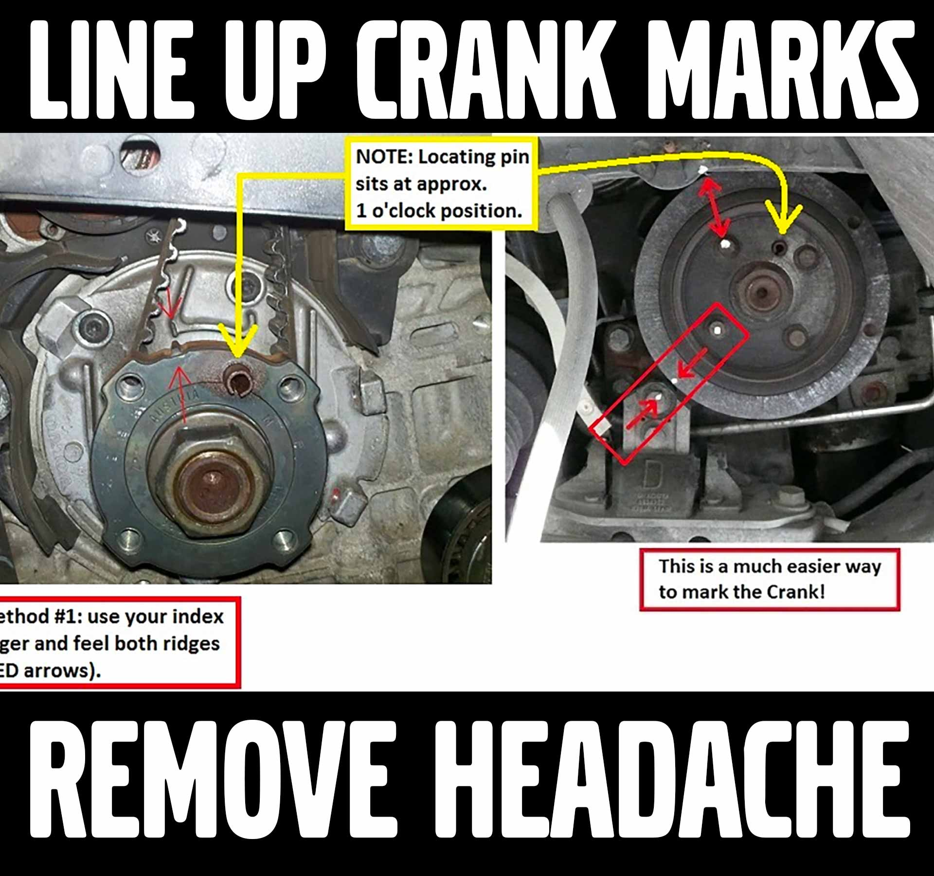 The EASY Way to Line Up Crank Mark for Timing Belt