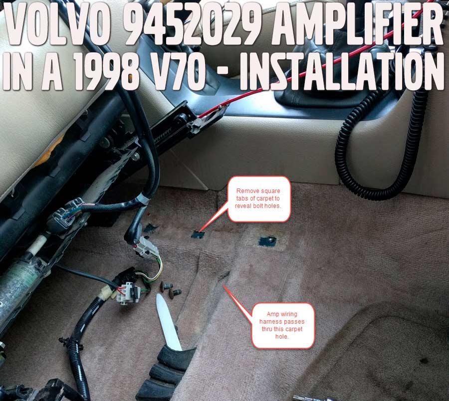 1998 Volvo V70 part #9452029 Amplifier Install