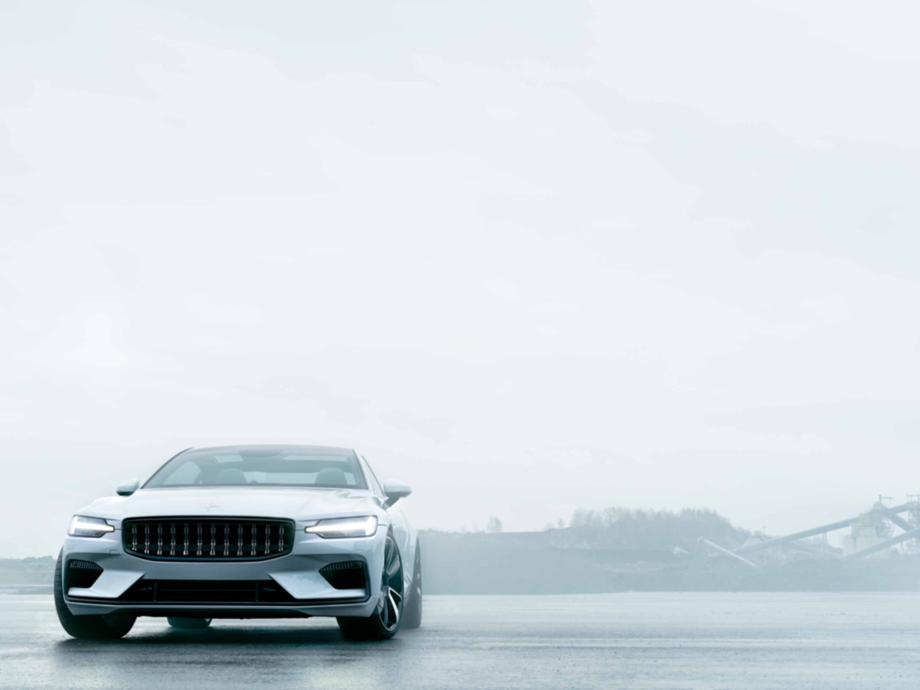 Polestar 1 in white, outside