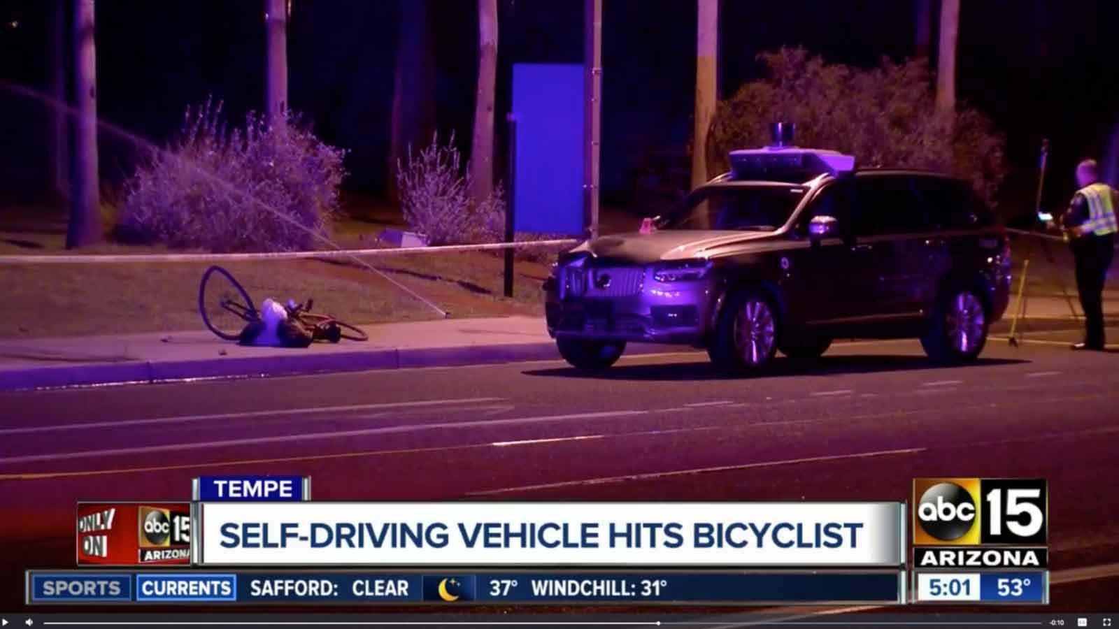 Volvo Uber Suv Kills Bicyclist