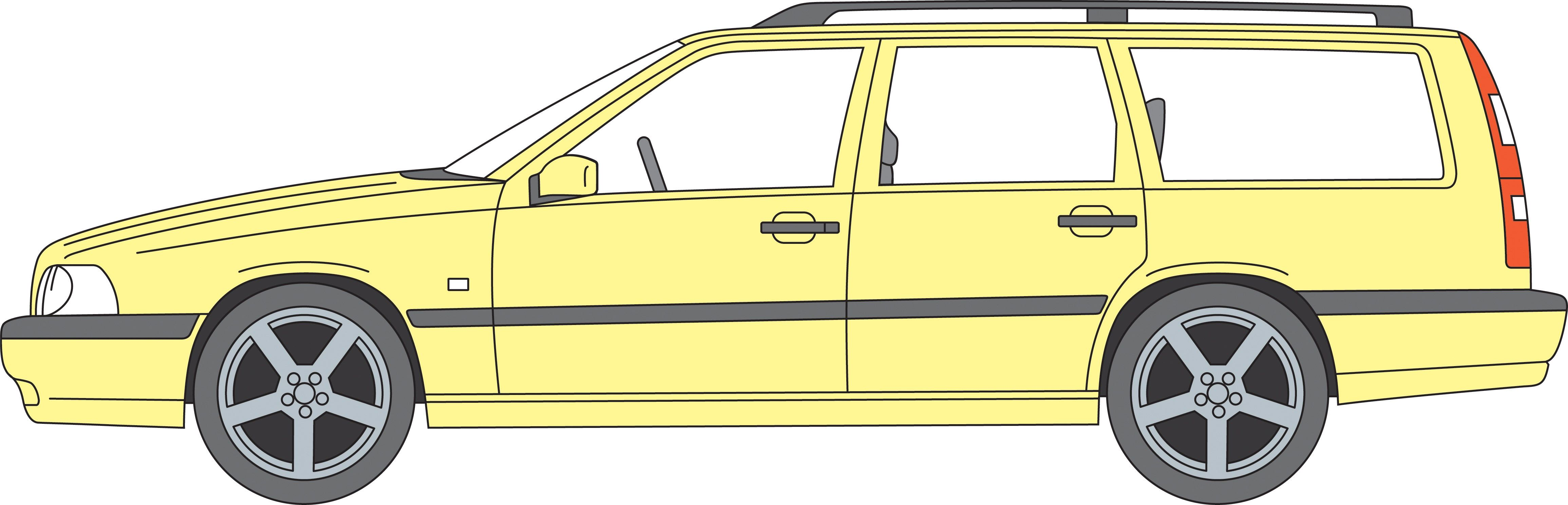 1995 Volvo 850 T 5r, Yellow -  850 wagon, 1995, Exterior, T-5R, Yellow, Yellow T-5R