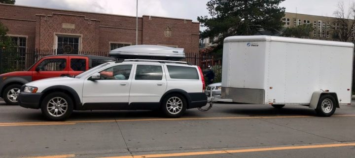 2007 XC70 towing a 1000-lbs trailer (empty weight)