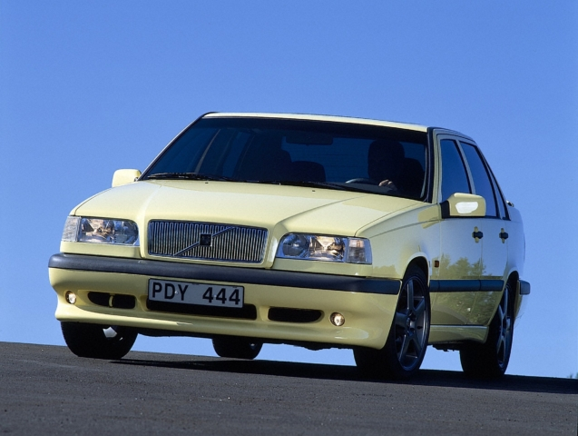 Volvo 850 -  850, 854, 1995, Exterior, Historical, Images, sedan, T-5R, Yellow, Yellow T-5R