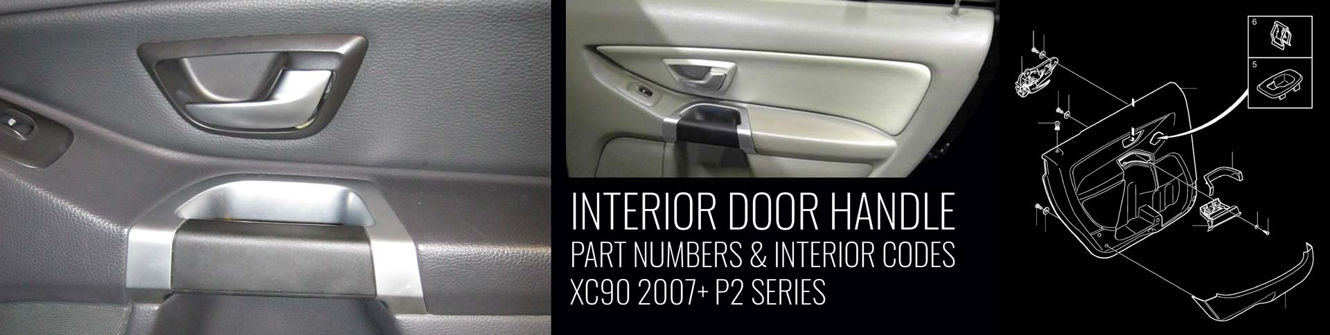 XC90 Interior Door Handle Part Numbers -