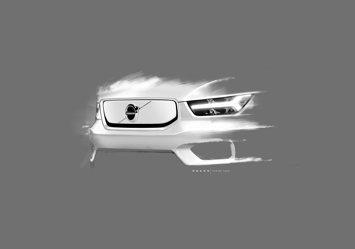Design Sketch Of Volvo Cars' Fully Electric XC40 Suv -  Technology, Corporate, Design, Detail, Images, Electrification, 2019