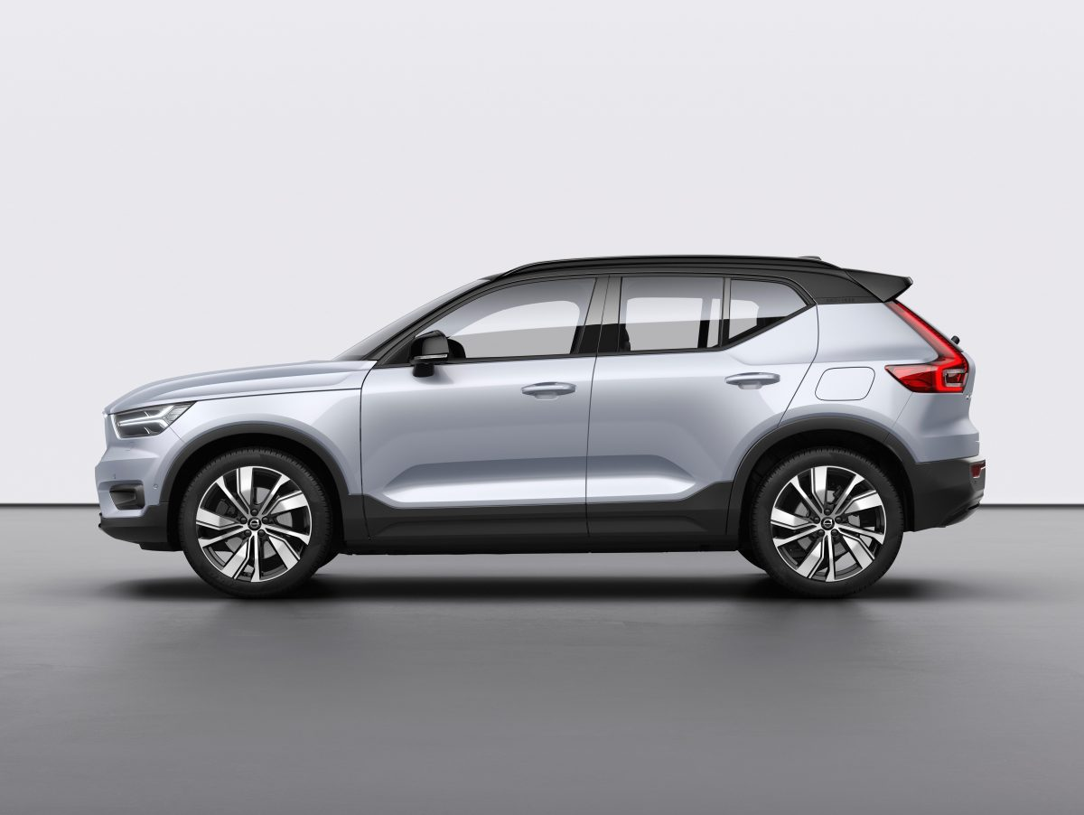 Volvo XC40 Recharge P8 Awd In Glacier Silver -  Technology, Corporate, Design, Images, Electrification, Studio, XC40, 2019, 2020 XC40