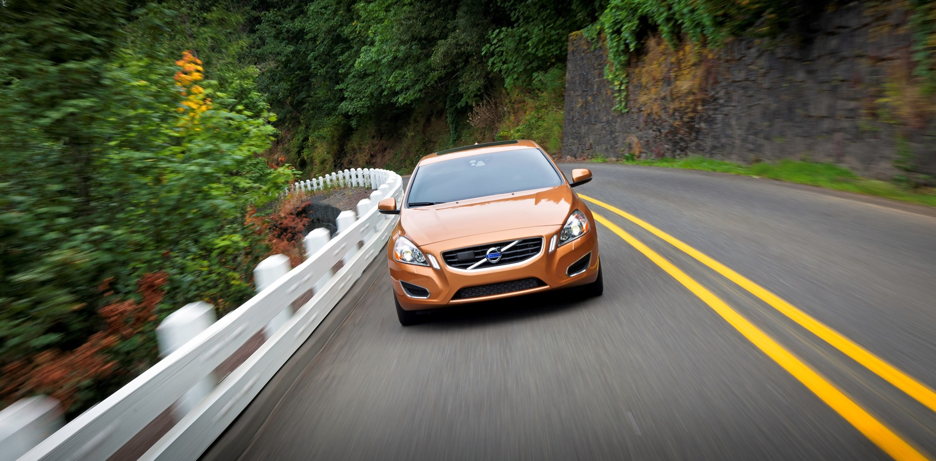 Front View Of S60 In Vibrant Copper -  Volvo