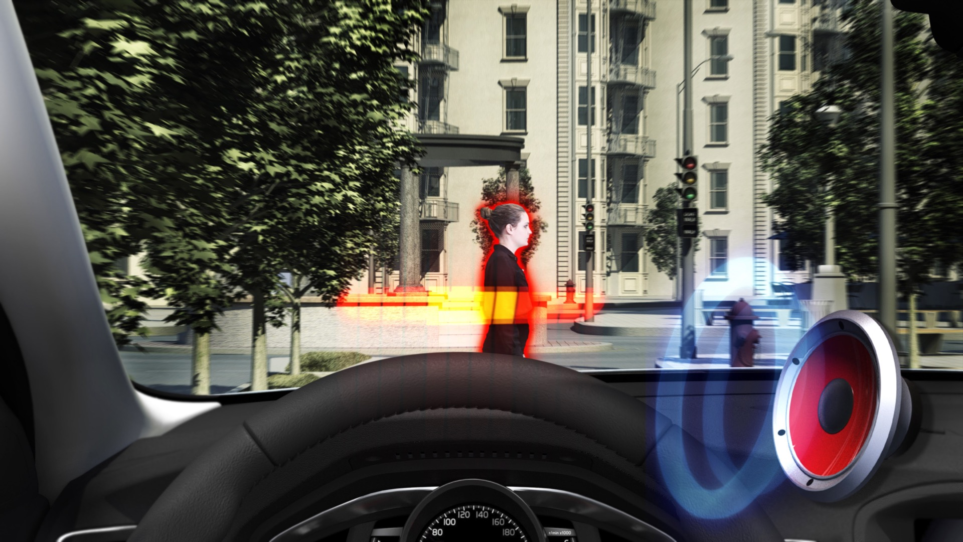 Pedestrian Detection With Full Auto Brake -  2013, 2014, Images, S60, S80, Safety, Technology, V60, V70, Volvo, XC60, XC70