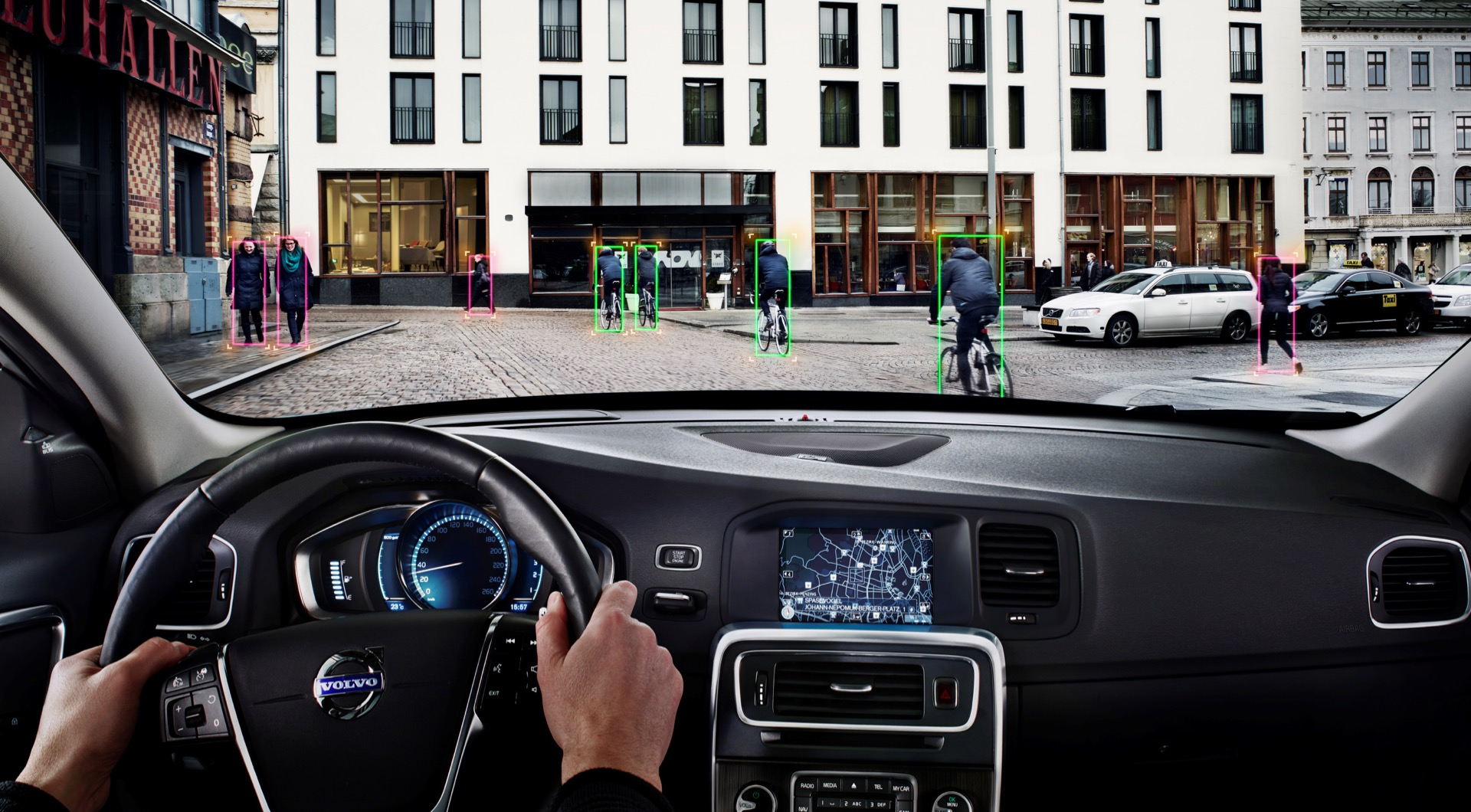 Pedestrian And Cyclist Detection With Full Auto Brake -  2013, 2014, Images, Other, S60, S80, Safety, Technology, V40, V60, V70, Volvo, XC60, XC70