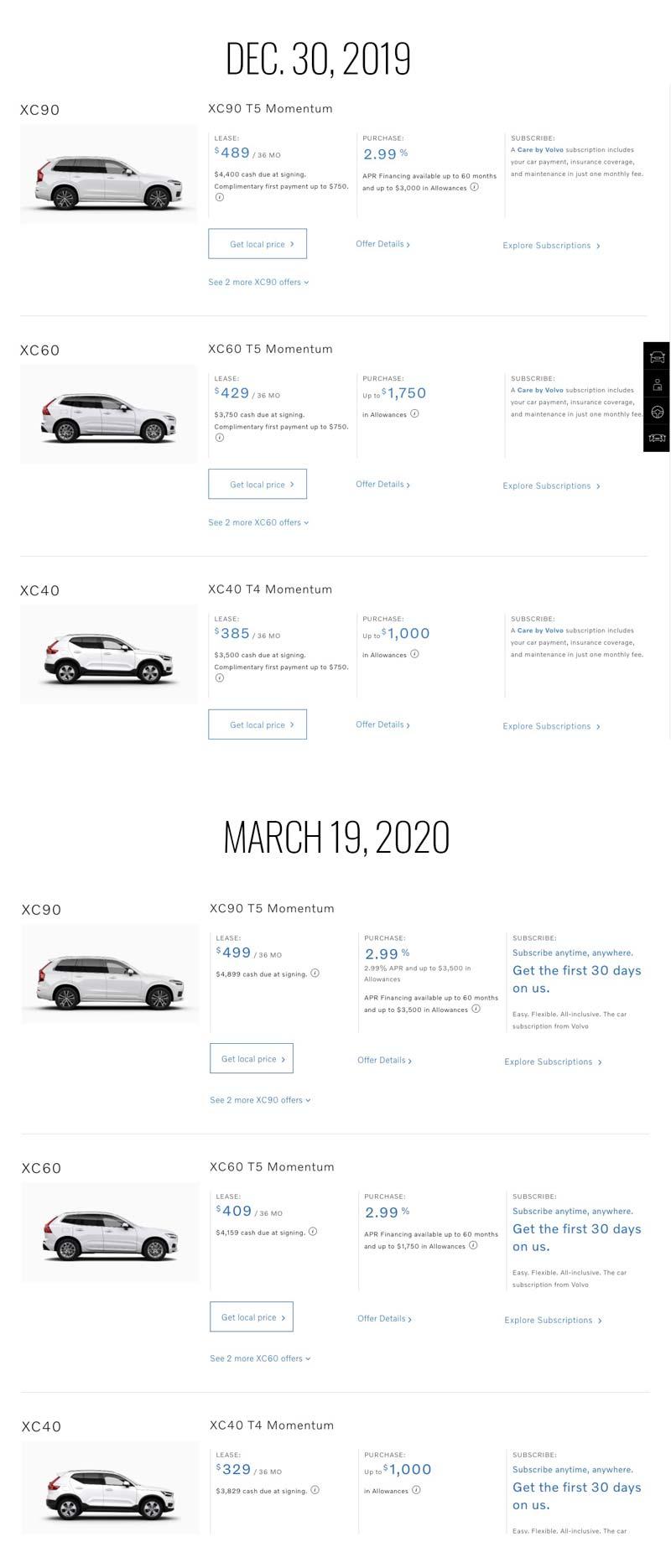 2019 2020 Volvo Suv Offers -
