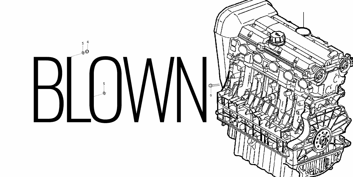S60 Blown Engine illustration