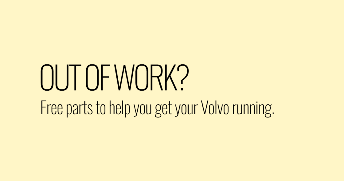 Free Volvo Parts for those in financial distress