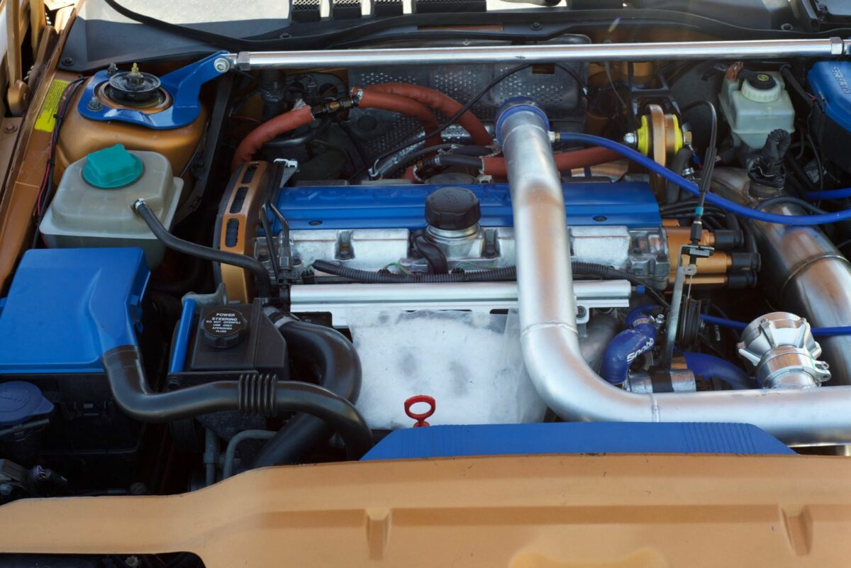 Built C70 engine bay