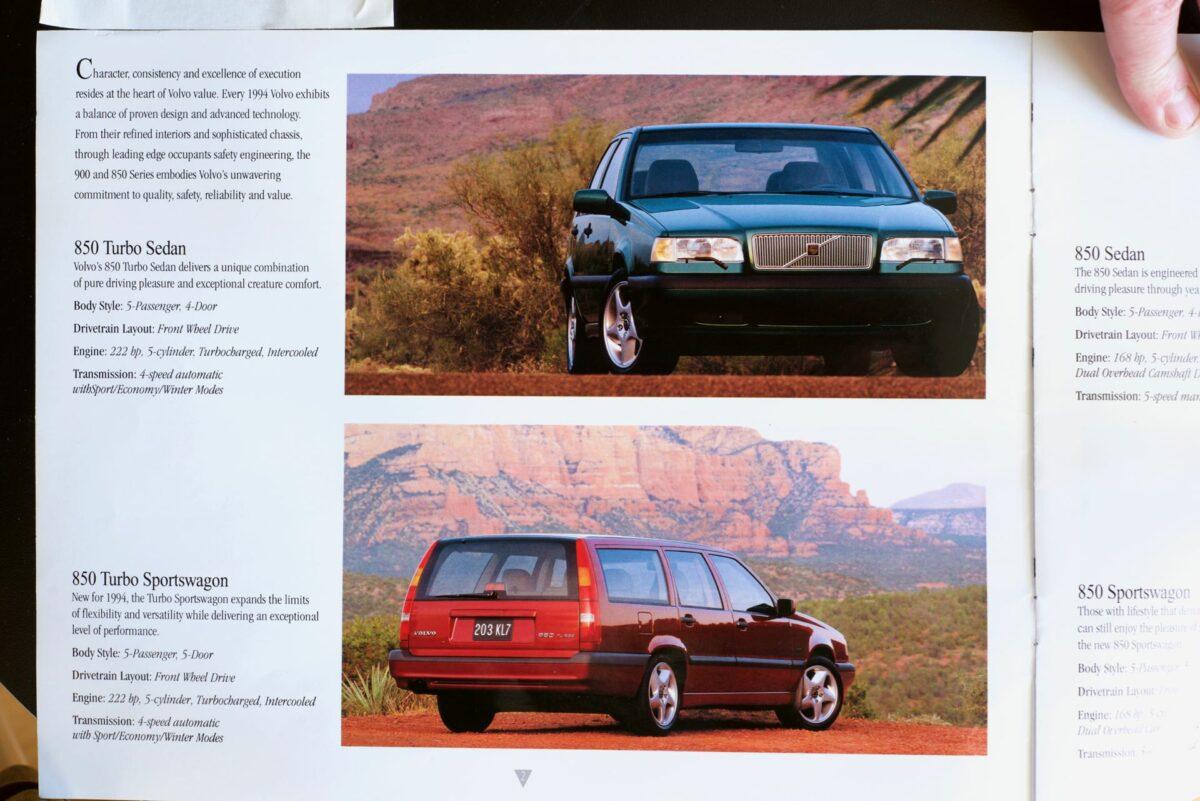 850 and 960 1994 Volvo dealer brochure 2 of 8