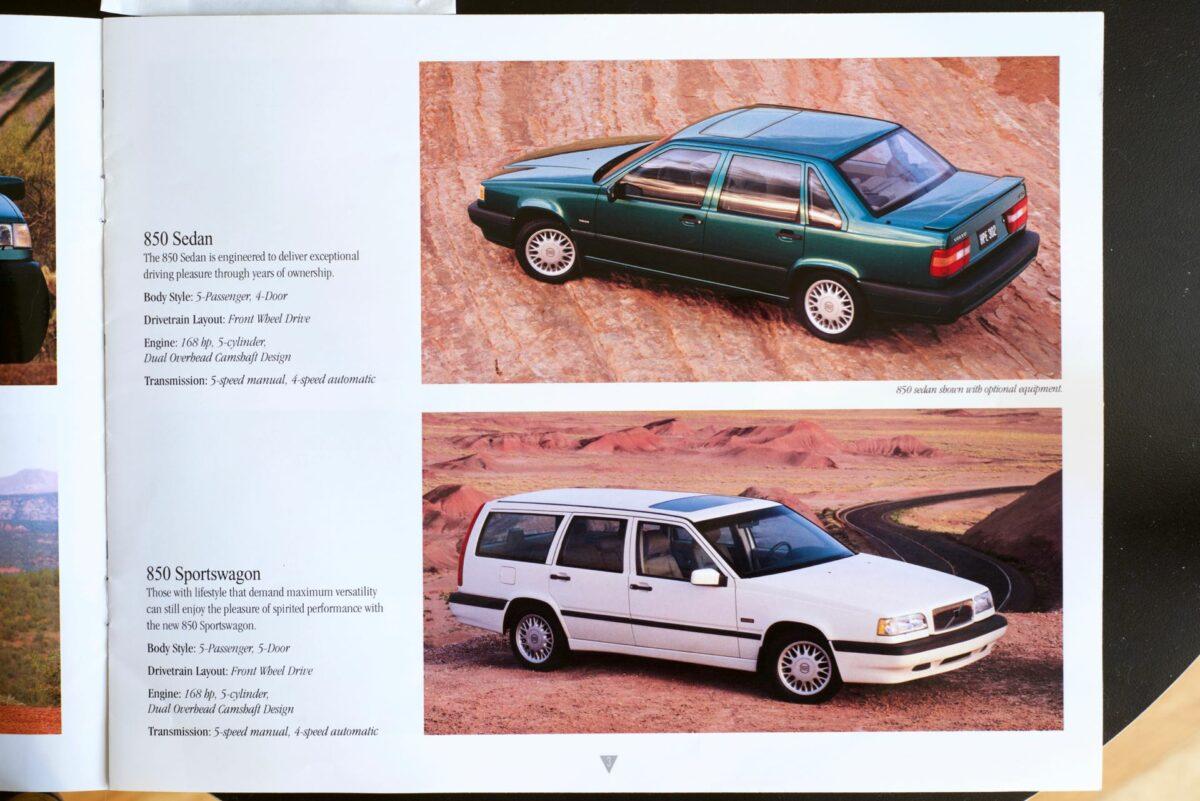 850 and 960 1994 Volvo dealer brochure 3 of 8