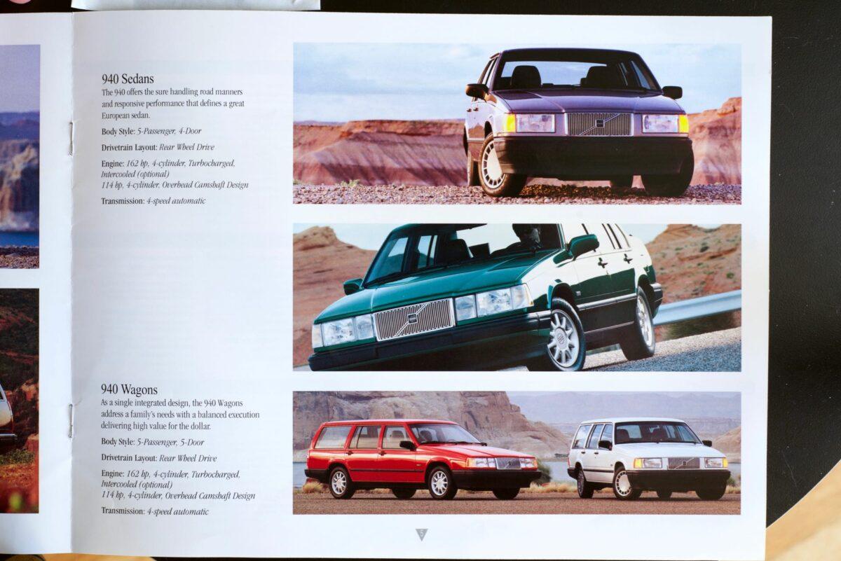 850 and 960 1994 Volvo dealer brochure 5 of 8