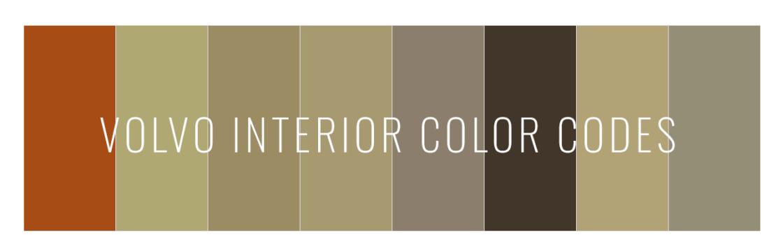 Volvo interior color codes